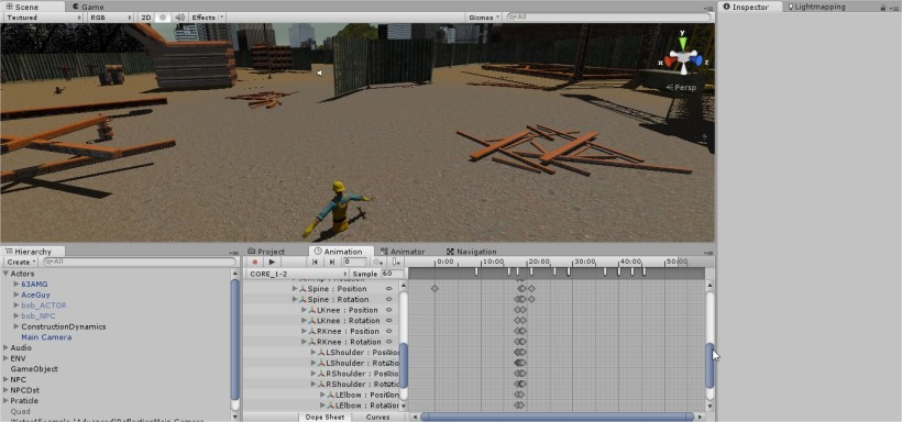 I don't have Motion Capture, So I have to animate non Walking motion.