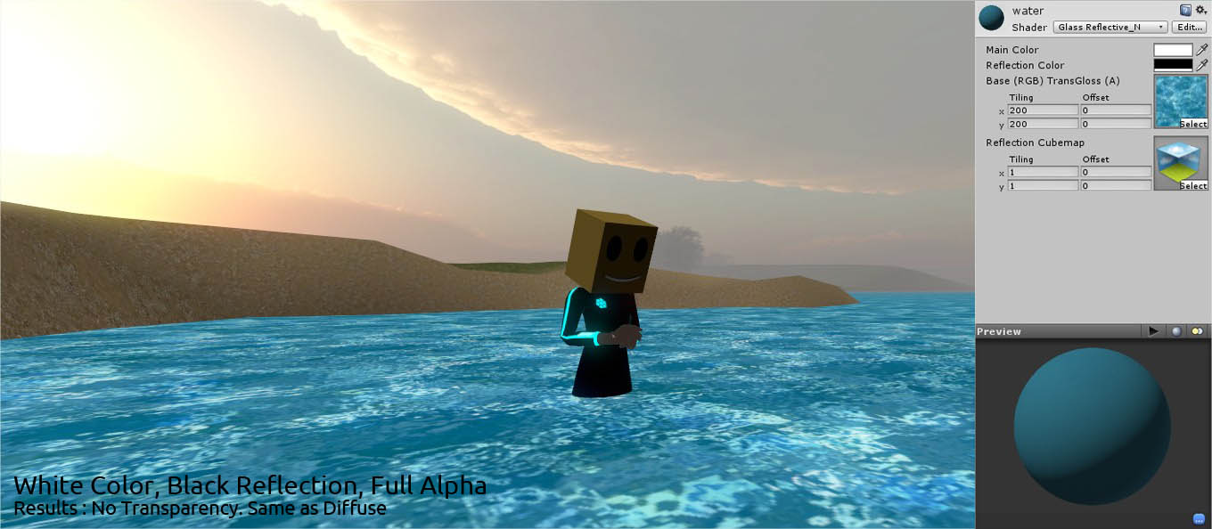 Shader] Reflective Transparent / Water-like Unity Indie