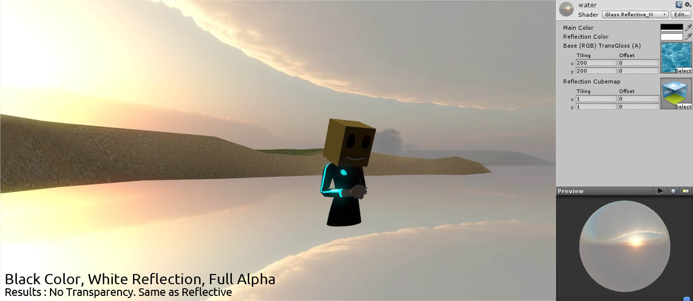 Shader] Reflective Transparent / Water-like Unity Indie | imagination XD