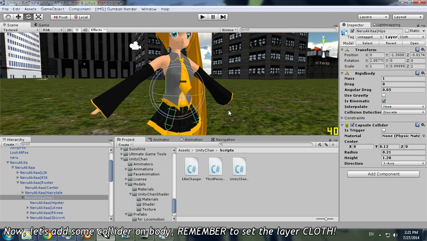 Joint-based Hair / Cloth Physics for Unity   imagination XD