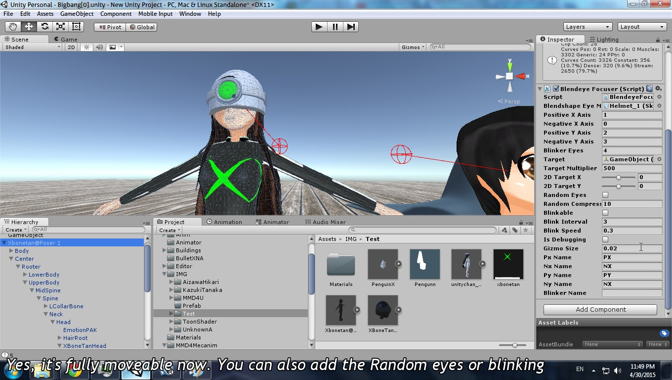 Unity] Blendshape Eye Controller (Look At, Random Eyes, and
