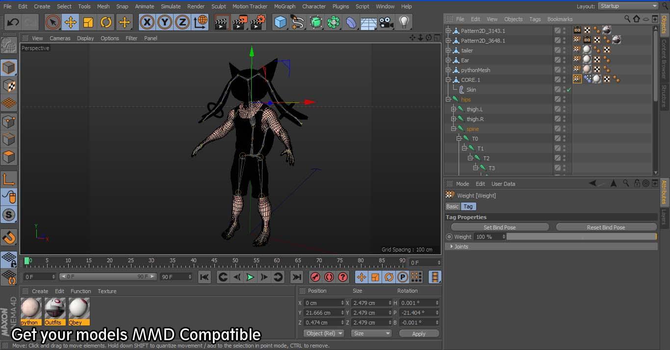 C4D, Maya, Blender] Convert FBX to MMD | imagination XD