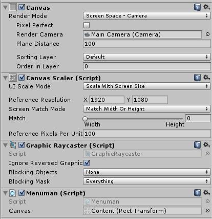 Unity UI 4 6] Parallax style menu | imagination XD